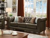 101#瑞德家居 普罗旺斯系列 简美气概 实木框架 皮艺沙发三人位