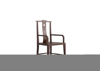 906A#瑞德家居  系列  新中式气概  金檀色  小乌金    扶手书椅/茶台椅