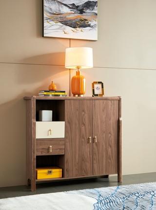 B501#瑞德家居  北欧气概 洋蜡木+E1板 鞋柜