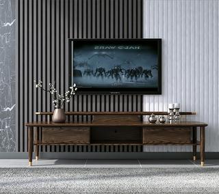 B803#瑞德家居  北欧乡村风格 白蜡木框架  2.0m电视柜