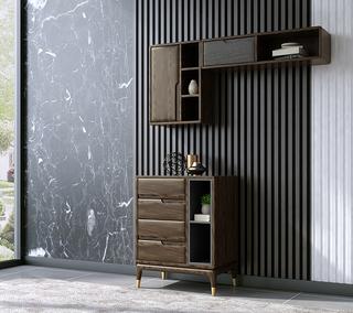 B803#瑞德家居  北欧乡村风格 白蜡木框架  矮装饰柜