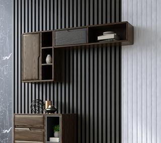 B802#瑞德家居  北欧乡村风格 白蜡木框架 横吊柜