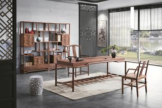 812#瑞德家居 系列 新中式气概 全实木  2.2m书桌