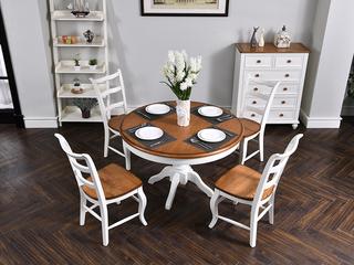 北美入口红橡 嘉宝莉环保漆 简美气概 卡梅尔圆餐桌