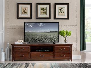 入口美国楸木 实木高等电视柜 美式气概 电视柜