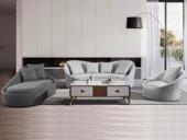 法莱顿 古代时髦 座感温馨 柔嫩亲肤棉夏布 温馨透气古代繁复沙发组合(1+3+右贵)