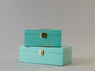 轻奢气概 木质金饰盒 B款