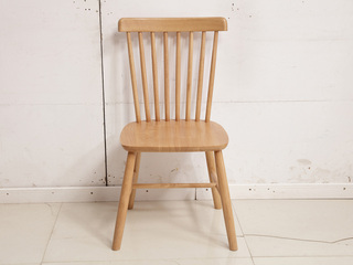 北欧气概 原木色 实木 餐椅 温莎椅