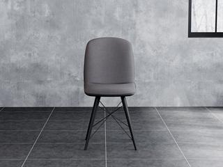 意式极简餐椅 H1003深灰餐椅