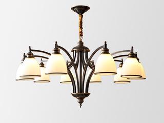 美式MC593-10H铜灯 10头吊灯(包邮)(不含光源)