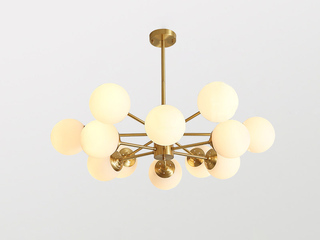 北欧MC861-6+6D铜灯 12头吊灯(包邮)(不含光源)