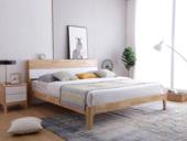 北欧印象 北欧气概 泰国入口橡胶木1.5米实木床