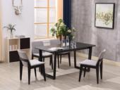 纳德威 古代繁复 洋蜡木底坐 面是实木封边贴皮餐桌