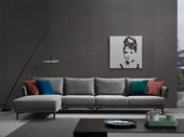 洛林菲勒 极简气概 科技布 实木底框架 转角沙发(1+3+右贵妃)