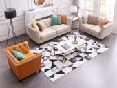 卡伦斯特 轻奢气概 优良超纤皮 实木框架 组合沙发(1+2+3)(抱枕随机发货)