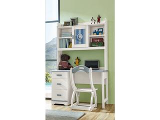 古代繁复 主材樱桃木+洋蜡木 大宝环保水性漆 全实木三抽直角书桌