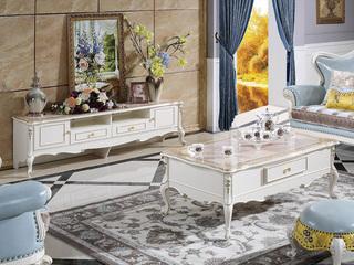 欧式 新象牙白系列  实木 电视柜