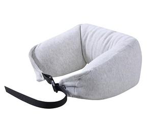 慕思集团时尚品牌 U型多功能枕 亲肤柔软顺滑全棉外套 100G饱满科技棉颗粒填充  枕芯(图片是浅灰色 实际为深灰色)
