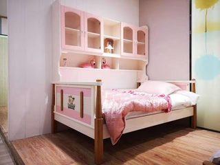 实木儿童床506# 1.35米功能床 粉色系