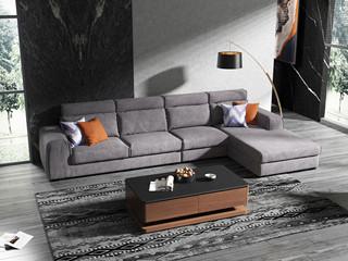 现代简约 超柔高弹 优质科技布+乳胶颗粒 1+3+左贵妃 沙发组合