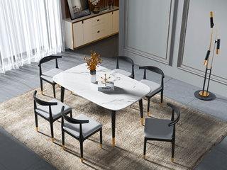 轻奢风格 1.4米 大理石餐桌
