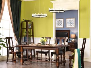 北美进口红橡 嘉宝莉环保漆 简美风格 艾米餐桌