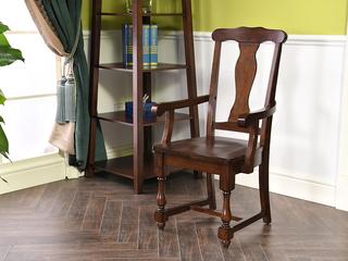 北美进口红橡 嘉宝莉环保漆 简美风格 艾米扶手餐椅