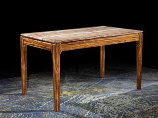 简乌金系列 乌金木(框架,腿)+天然大理石面板大理石餐台