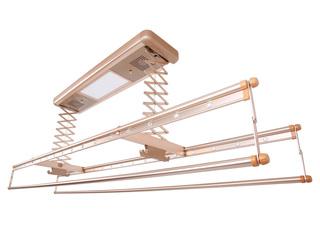 【包郵 送貨到樓下(偏遠地區除外)】 620自然風干+紫外線消毒+LED照明多功能晾衣架 土豪金 固定晾曬架