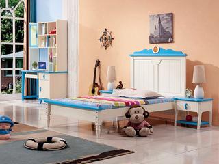 蓝白1.5*1.92米儿童床