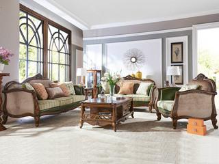 格蕾皮布艺沙发组合1+2+3