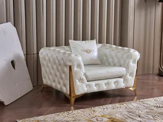 慕梵希 轻奢1人位样色 高端纳帕皮 北美进口落叶松框架 C33沙发