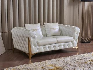 慕梵希 轻奢2人位样色 优质头层黄牛皮  北美进口落叶松框架 C33沙发