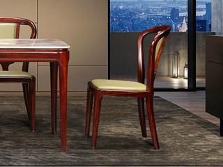中式休闲系列616皮艺餐椅