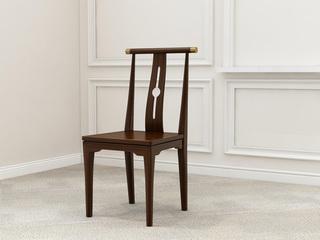 新中式 优质进口小乌金木 FA1901 餐椅