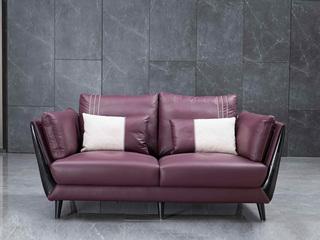 意式极简沙发 进口乳胶棉 德国仿羊绒 进口头层黄牛皮 双扶手双人沙发