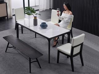 极简SQ-1大理石长方形餐桌