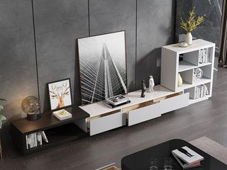 现代简约 黑白 亮光烤漆 书柜