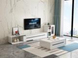 米勒 现代简约 白色电视柜(不含边柜)
