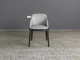米勒 现代简约  有扶手餐椅