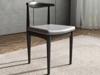 米勒 現代簡約 細紋餐椅 黑+灰色餐椅(單把價格 需雙數購買 單數不發貨)