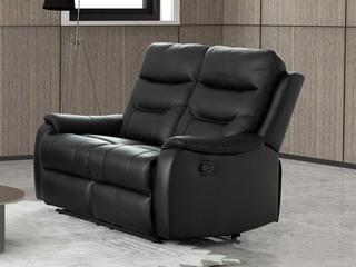 【江浙沪包邮】 现代极简 双人位手动款沙发(黑色)