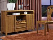 纯典 中式风格 北美进口胡桃木 餐边柜
