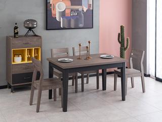 现代简约 高级灰 餐桌