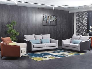 现代简约 优质细麻 弹簧底坐 沙发组合(1+2+3)