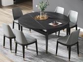 瑞庭 现代简约 劳伦黑金 2260岩板 1.35米餐桌