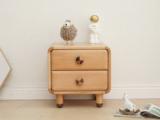 北欧印象 北欧风格 榉木坚固框架 手工木蜡油工艺 曲奇色 ET6105床头柜
