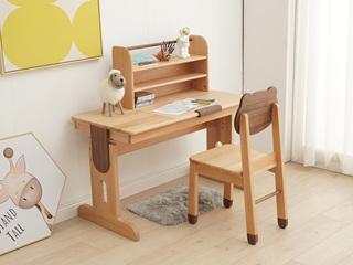 北欧风格 榉木坚固框架 手工木蜡油工艺 曲奇色 ET6501书台