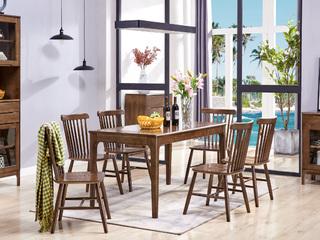 北欧餐椅 胡桃色 温莎椅