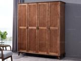 源木时光 北欧风格 北美进口白蜡木 四门衣柜